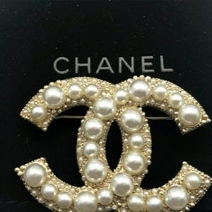 Chanel Authentic Brooch Hallmark stamp on back